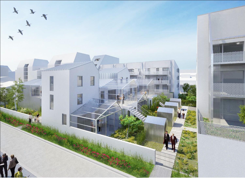 58 logements lot 1e ecocite jardins des maraichers for Habitat 21 dijon